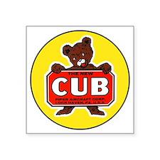 """Piper Cub Square Sticker 3"""" x 3"""""""