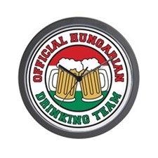 Official Hungarian Drinking Team Wall Clock