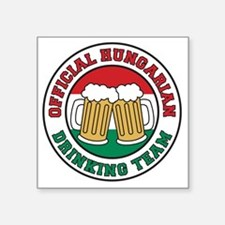 "Official Hungarian Drinking Square Sticker 3"" x 3"""