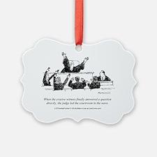 Judicial Wave Ornament