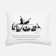 Judicial Wave Rectangular Canvas Pillow