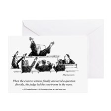 Judicial Wave Greeting Card