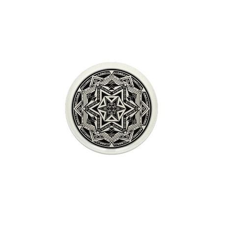 Between Worlds Mandala Mini Button