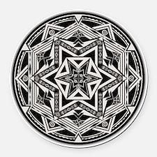 Between Worlds Mandala Round Car Magnet