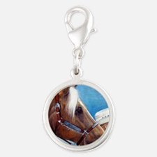 Palomino Quarter Horse Showman Silver Round Charm