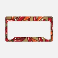 Red Chilli Peppers License Plate Holder