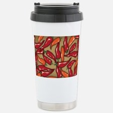 Red Chilli Peppers Stainless Steel Travel Mug