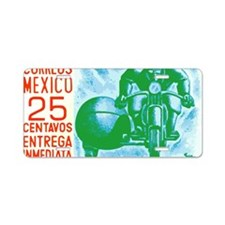 1954 Mexico Motorcycle Mess Aluminum License Plate