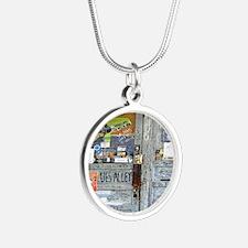 Ground Zero Blues Club Old D Silver Round Necklace