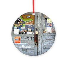 Ground Zero Blues Club Old Doors Gr Round Ornament