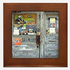 Ground Zero Blues Club Old Doors Graff Framed Tile