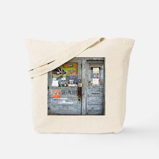 Ground Zero Blues Club Old Doors Graffiti Tote Bag