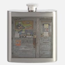 Ground Zero Blues Club Old Doors Graffiti Flask