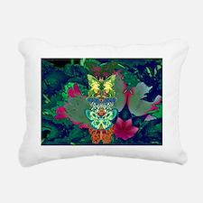 BUTTERFLIES ETC & FLOWER Rectangular Canvas Pillow