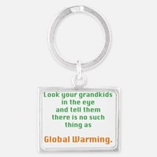 Global Warming Landscape Keychain