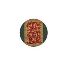 Red Chilli Peppers Mini Button