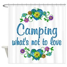 Camping to Love Shower Curtain
