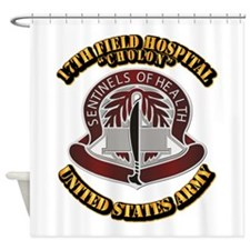 DUI - 17th Field Hospital With Text Shower Curtain