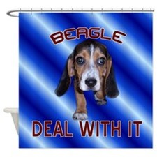 Beagle Deal With It Shower Curtain
