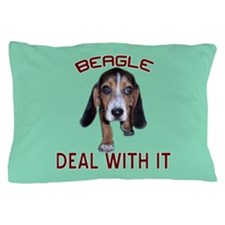 Beagle Deal With It Pillow Case