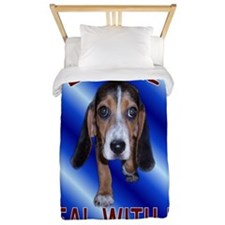 Beagle Deal With It Twin Duvet