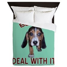 Beagle Deal With It Queen Duvet