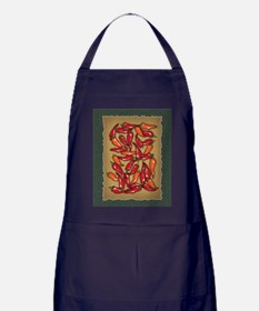 Red Chilli Peppers Apron (dark)