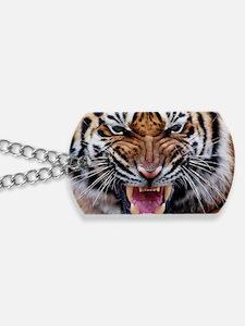 Big Cat Tiger Roar Dog Tags
