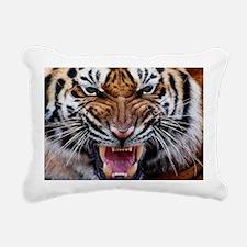 Big Cat Tiger Roar Rectangular Canvas Pillow