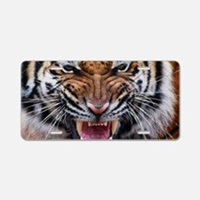 Big Cat Tiger Roar Aluminum License Plate