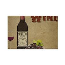 Wine Rectangle Magnet