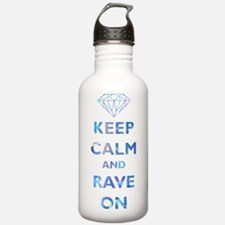 Keep Calm and Rave On Sports Water Bottle