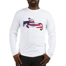Hunter Jumper American Horse Long Sleeve T-Shirt