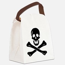 Skull  Crossbones Canvas Lunch Bag