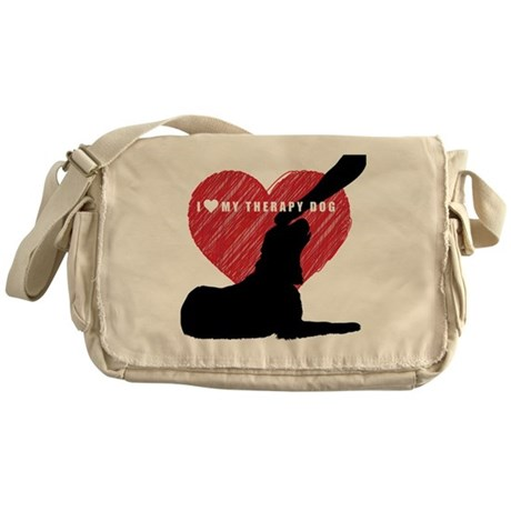 I love my therapy dog Messenger Bag