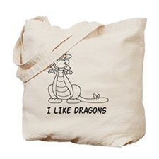I Like Dragons Tote Bag