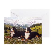 Bernese Mountain Dog Wildflowers Greeting Card