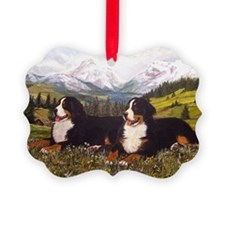 Bernese Mountain Dog Wildflowers Ornament