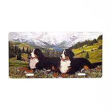 Bernese Mountain Dog Wildfl Aluminum License Plate