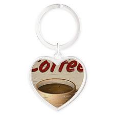 Coffee 2 Heart Keychain