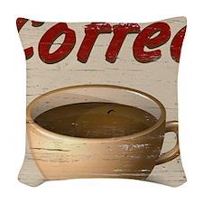 Coffee 2 Woven Throw Pillow
