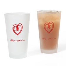 STRONG HEART HARD BODY - BLACK Drinking Glass