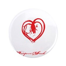 "STRONG HEART HARD BODY - BLACK 3.5"" Button"