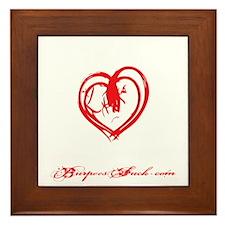 STRONG HEART HARD BODY - BLACK Framed Tile