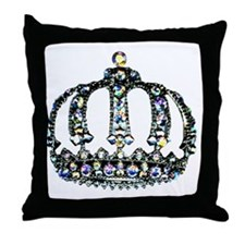 Royal Tiara Throw Pillow
