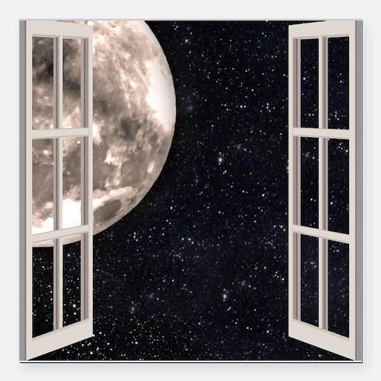 "Magical Moon Square Car Magnet 3"" x 3"""