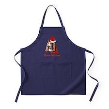 Basset Hound Christmas Apron (dark)