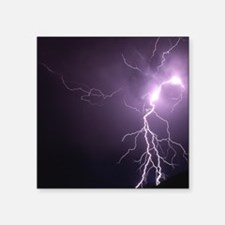 "Shocking Lightning Bolt Square Sticker 3"" x 3"""