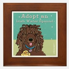 Adopt an Irish Water Spaniel Framed Tile