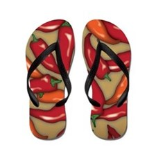 Red Chilli Peppers Flip Flops